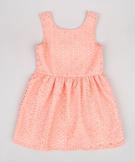 Vestido-Infantil-em-Laise-Alca-Larga-Coral-9678258-Coral_1