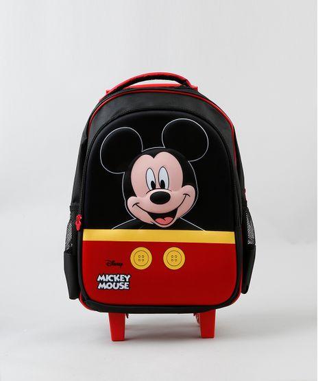 Mochila-Escolar-Infantil-com-Rodinhas-Mickey-Mouse-Preta-9236011-Preto_1