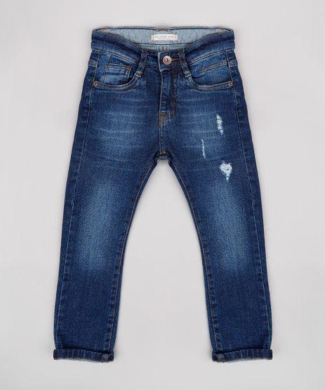 Calca-Jeans-Infantil-com-Rasgos-Azul-Escuro-9767890-Azul_Escuro_1