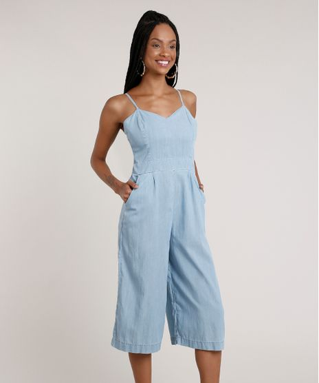 Macacao-Jeans-Feminino-Pantacourt-com-Bolsos-Alca-Fina-Azul-Claro-9830492-Azul_Claro_1