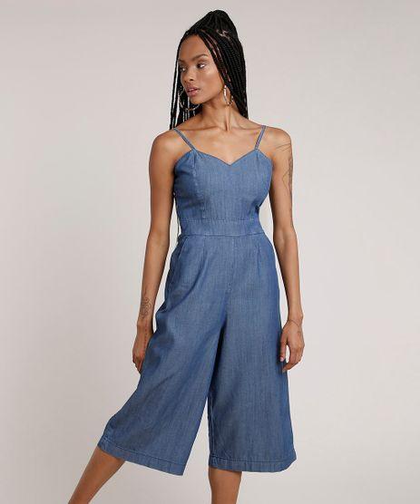 Macacao-Jeans-Feminino-Pantacourt-com-Bolsos-Alca-Fina-Azul-Escuro-9830491-Azul_Escuro_1