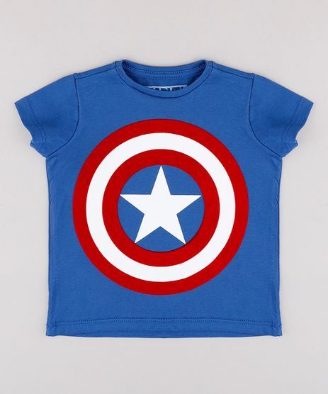 Camiseta-Infantil-Capitao-America-Manga-Curta-Azul-9844843-Azul_1