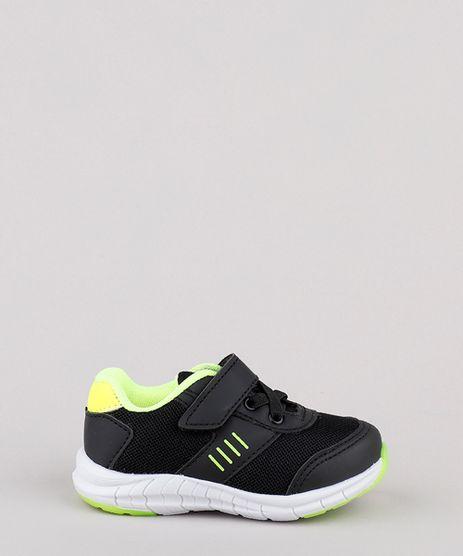 Tenis-Infantil-Baby-Club-Running-com-Velcro-e-Elastico-Preto-9828823-Preto_1