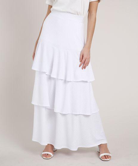 Saia-Feminina-Mindset-Longa-Canelada-em-Camadas-Branca-9872416-Branco_1