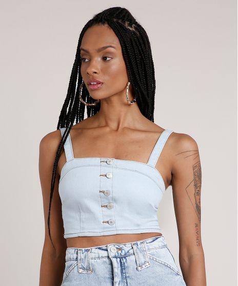 Top-Cropped-Jeans-Feminino-com-Botoes-Alca-Media-Decote-Reto-Azul-Claro-9833542-Azul_Claro_1