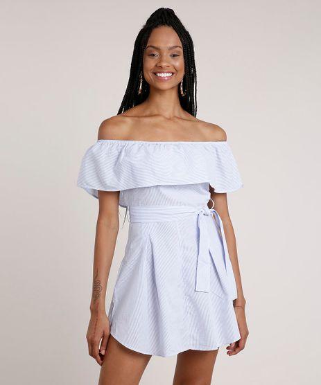 Vestido-Feminino-Curto-Ciganinha-Listrado-com-Faixa-para-Amarrar-Manga-Curta-Azul-Claro-9741745-Azul_Claro_1