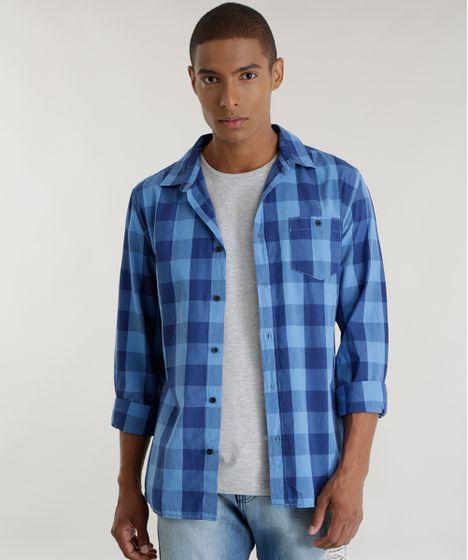 c7bc2449f9 Camisa-Xadrez-Azul-8448801-Azul 1 ...