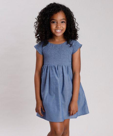 Vestido-Jeans-Infantil-Manga-Curta-Azul-Escuro-9676020-Azul_Escuro_1