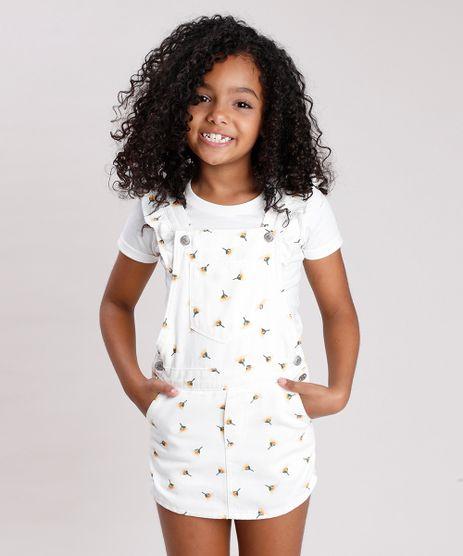 Jardineira-Short-Saia-de-Sarja-Infantil-Estampada-Floral-com-Babado-Off-White-9746441-Off_White_1
