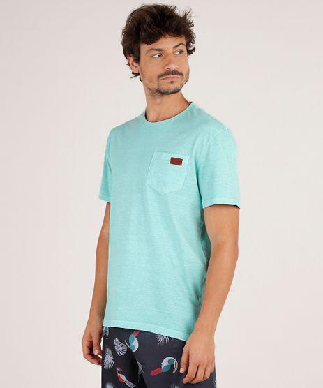 Camiseta-Masculina-com-Bolso-Manga-Curta-Gola-Careca-Verde-Agua-9770440-Verde_Agua_1