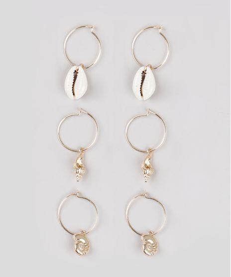 Kit-de-3-Brincos-Femininos-de-Argola-com-Pingentes-Dourado-9761521-Dourado_1