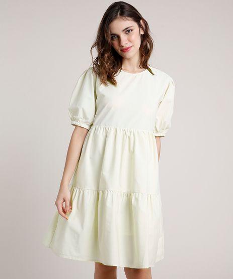 Vestido-Feminino-Mindset-Curto-com-Recortes-Manga-Curta-Bege-Claro-9886816-Bege_Claro_1