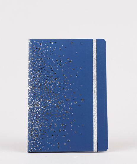 Caderno-Capa-Dura-com-Estampa-Metalizada-Sem-Pauta-205-cm-x-14-cm--Azul-Marinho-9797256-Azul_Marinho_1
