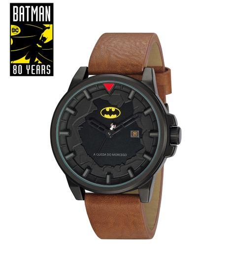 Kit-de-Relogio-Analogico-Mondaine-Batman---A-Queda-Do-Morcego-Masculino---Placa-Metalica---32130GPMGPH1-Marrom-9809093-Marrom_1