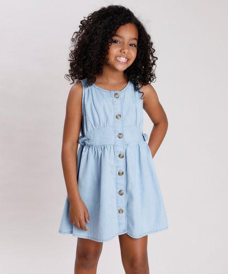 Vestido-Jeans-Infantil-com-Botoes-e-Laco-Azul-Claro-9845743-Azul_Claro_1