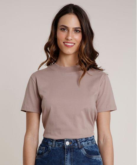 T-Shirt-Feminina-Mindset-Manga-Curta-Decote-Redondo-Bege-9394894-Bege_1