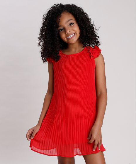 Vestido-Infantil-Plissado-com-Flores-Sem-Manga-Vermelho-9678260-Vermelho_1