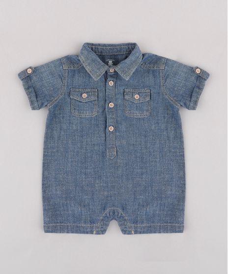 Macaquinho-Jeans-Infantil-com-Bolsos-Manga-Curta-Azul-Escuro-9681997-Azul_Escuro_1