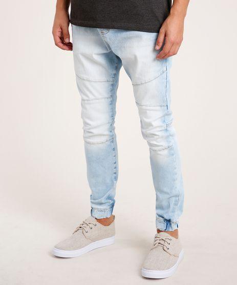 Calca-Jeans-Masculina-Jogger-com-Recortes-e-Cordao-Azul-Claro-9776348-Azul_Claro_1