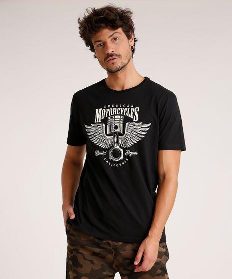 Camiseta-Masculina--American-Motorcycles--Manga-Curta-Gola-Careca-Preta-9738696-Preto_1
