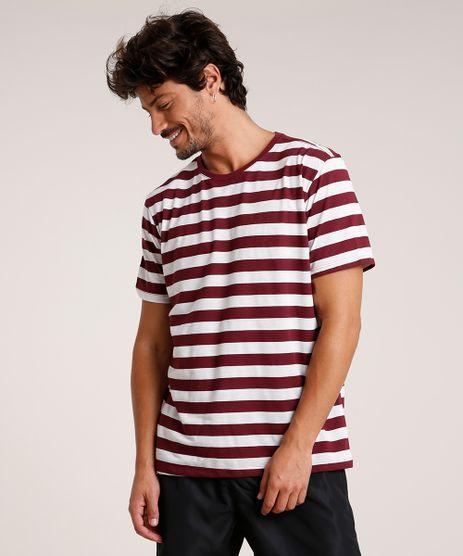 Camiseta-Masculina-Basica-Listrada-Manga-Curta-Gola-Careca-Vinho-9650392-Vinho_1