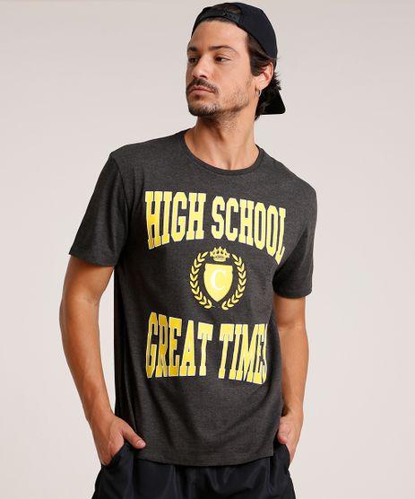 Camiseta-Masculina--High-School--Manga-Curta-Gola-Careca-Cinza-Mescla-Escuro-9726539-Cinza_Mescla_Escuro_1