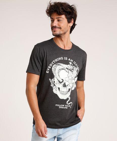 Camiseta-Masculina-Caveira--Illusion--Manga-Curta-Gola-Careca-Cinza-Mescla-Escuro-9738705-Cinza_Mescla_Escuro_1