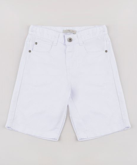 Bermuda-de-Sarja-Infantil-Reta-com-Puidos-Branca-9761839-Branco_1