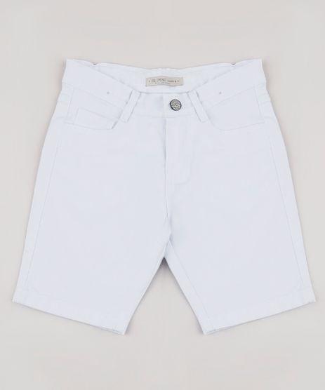 Bermuda-de-Sarja-Infantil-Reta-Branca-9761826-Branco_1