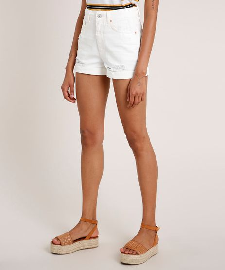 Short-de-Sarja-Feminino-Mom-Vintage-Cintura-Super-Alta-Destroyed-Off-White-9699539-Off_White_1