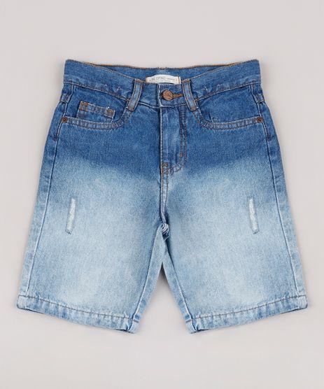 Bermuda-Jeans-Infantil-com-Degrade-e-Puidos-Azul-Medio-9761842-Azul_Medio_1