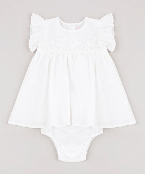 Vestido-Infantil-com-Renda-Manga-Curta-com-Calcinha-Off-White-9688977-Off_White_1