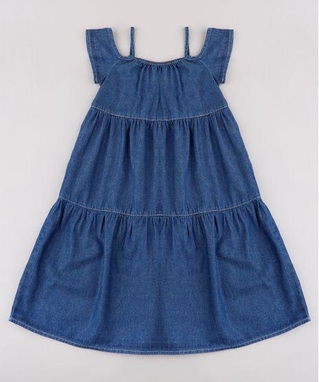 Vestido-Infantil-Longo-com-Recortes-Ombro-a-Ombro-Azul-Escuro-9845744-Azul_Escuro_1