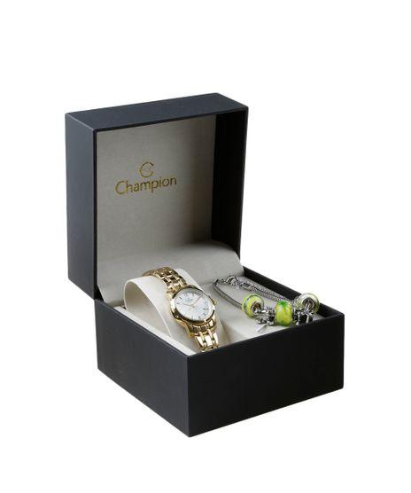 75260e13281 Kit-Pulseira---Relogio-Champion-Feminino-Analogico-CA28841W-