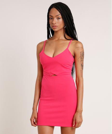 Vestido-Feminino-Curto-com-Recorte-Alca-Fina-Pink-9776176-Pink_1