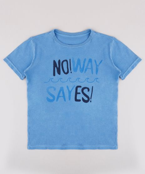 Camiseta-Infantil--No-way--Manga-Curta--Azul-9734841-Azul_1