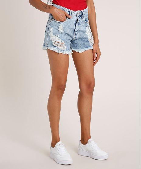 Short-Jeans-Feminino-Cintura-Super-Alta-Destroyed-Azul-Claro-9703516-Azul_Claro_1