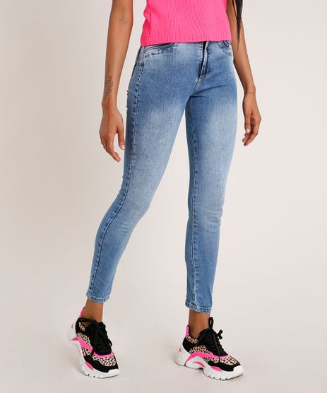Calca-Jeans-Feminina-Sawary-Cigarrete-Cintura-Alta-Azul-Claro-9855754-Azul_Claro_1