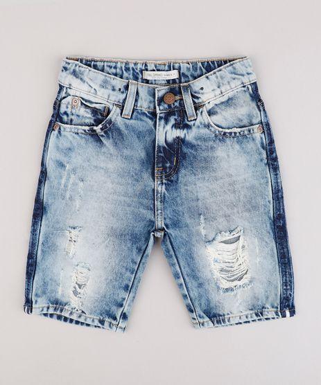 Bermuda-Jeans-Infantil-Destroyed--Azul-Medio-9869050-Azul_Medio_1