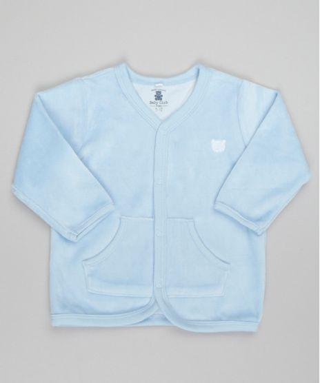 Cardigan-em-Plush-de-Algodao---Sustentavel-Azul-Claro-8479664-Azul_Claro_1