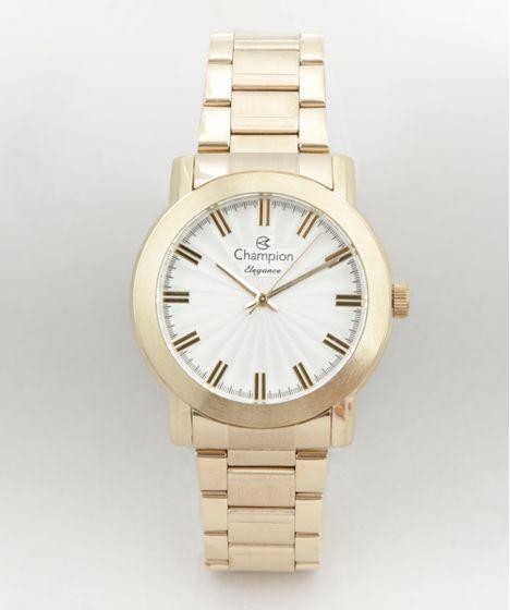 ebf7c4cc62b Relógio Champion Analógico Feminino - CN26617H Dourado - cea