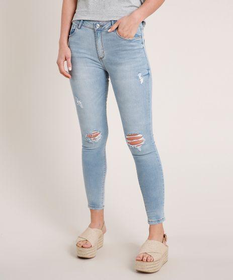 Calca-Jeans-Feminina-Skinny-Cintura-Media-Destroyed-Azul-Claro-9537868-Azul_Claro_1