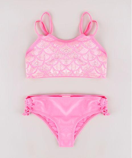Biquini-Infantil-com-Estampa-de-Sereia-e-Brilho-Holografico-Protecao-UV50--Pink-9771574-Pink_1
