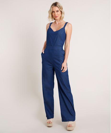 Macacao-Jeans-Feminino-com-Amarracao-Alca-Media-Azul-Escuro-9834575-Azul_Escuro_1