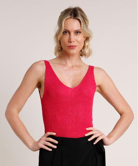 Regata-Feminina-em-Trico-com-Lurex-Alca-Media-Decote-V-Pink-9683670-Pink_1