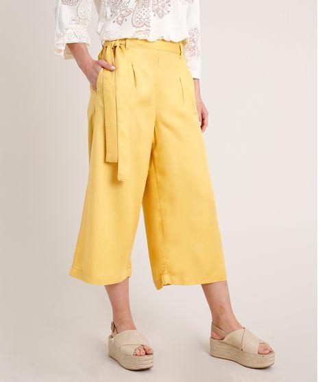 Calca-Feminina-Pantacourt-Clochard-Amarelo-9836759-Amarelo_1