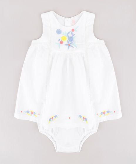 Vestido-Infantil-com-Bordado-Floral-Sem-Manga---Calcinha-Branco-9688978-Branco_1