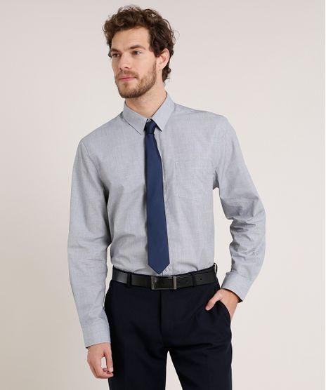 Camisa-Masculina-Comfort-com-Bolso-Manga-Longa-Cinza-8826559-Cinza_1