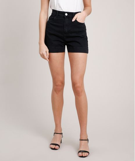 Short-Jeans-Feminino-Mindset-Cintura-Super-Alta-Preto-9847814-Preto_1