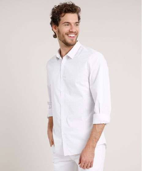 Camisa-Masculina-Slim-Estampada-Floral-Manga-Longa-Branca-9657153-Branco_1